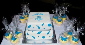 The special cake produced for CELSA's 40th anniversary held at the Hamilton Suite, Drayton Manor Park.