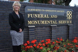 Amanda Woodward, general manager of Tamworth Co-op's funeral division, says Frederick will receive a free memorial stone after staff were touched by his 'heart-breaking' story.