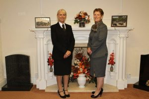 Lorraine Walker and Angela Bowyer who have joined Woodville Co-op.