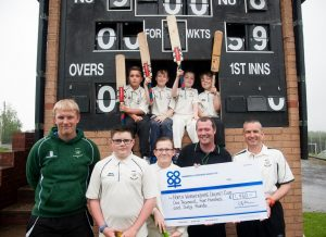 Local cricket club was bowled over to receive £1,460 from Community Dividend Fund in 2016, thanks to generosity of shoppers at Tamworth Co-op convenience store in Polesworth.