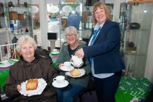 Two women waited on at Tamworth Co-op coffee morning by funeral arranger