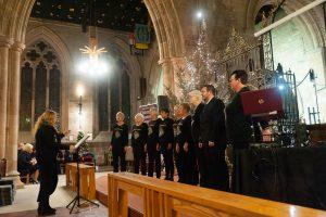 Sing4Pleasure choir performing at Tamworth Co-op Christmas Memorial Service