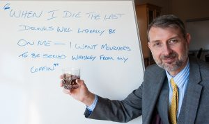 Glen Speak, Tamworth Co-op deputy funeral manager, spells out his farewell wish.