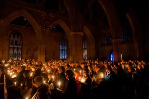 Candles held aloft during a silent tribute to lost loved ones at St Editha's Church in Tamworth.