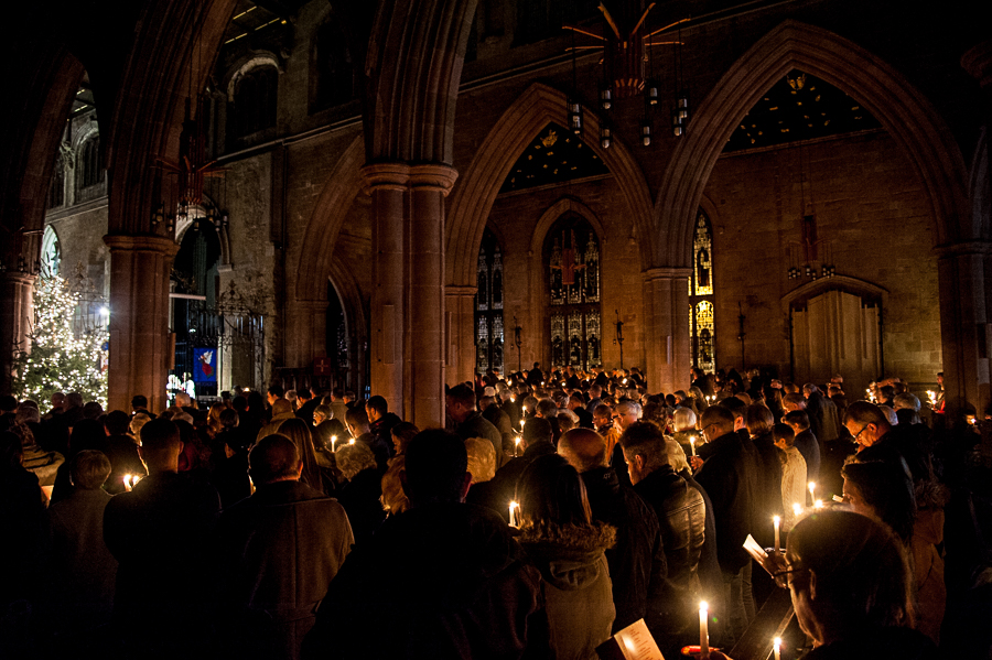 Hundreds of people took part in candlelit tribute to lost loved ones at St Editha's Church, Tamworth..
