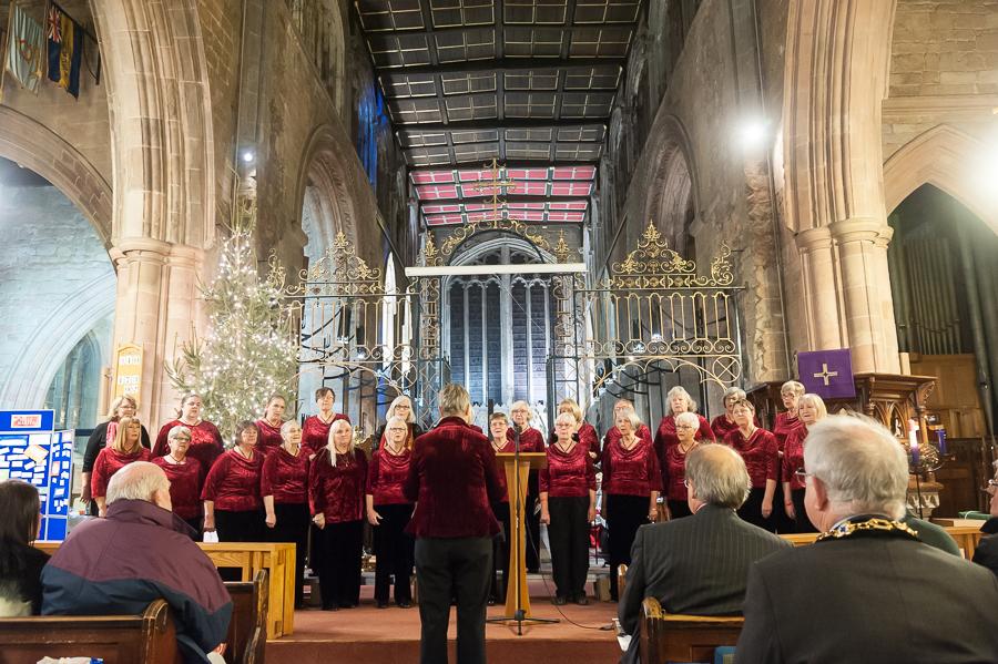 Tamworth Ladies Choir performing Remember Me during service.