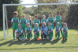 Members of the St John's Junior Football Club girls' team